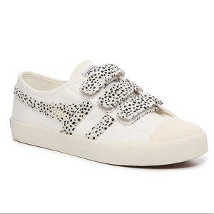 Gola Coaster Polka Dot Calf Hair 3 Strap Sneakers